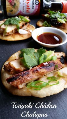Teriyaki Chicken Chalupas Appetizer  #KikkomanSaborLBC #ad