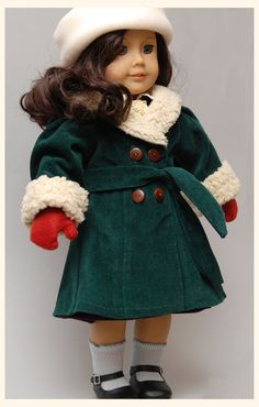 PRESALE Ruthie Coat 1930's Sewing Pattern by by DollhouseDesigns  American Girl Doll Pattern