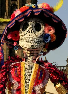 Day of the dead can be celebrated all day at a cemetery when people come and remember the dead.