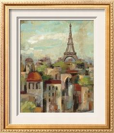 Spring in Paris II Print by Silvia Vassileva at Art.com