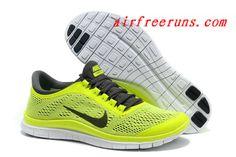 2013 Best Selling Nike Free 3.0 V5 Yellow Black #cheap #nike #shoes