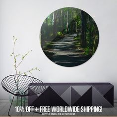 Discover «Enchanted Forest», Limited Edition Disk Print by Glink - From $99 - Curioos