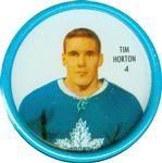 1962-63 Shirriff Coins #4 Tim Horton Front