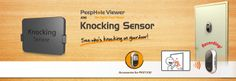 Brinno Peephole Viewer Knocking Sensor for PHV1330: It detects and caputres an image of knocks on your door!