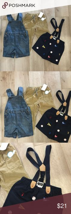 24m bundle Overalls never been worn  Tags have been removed  Pants NWT MSRP 26.00 One Pieces