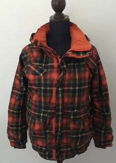 Burton Snowboard Skiing Girls Twist Bomber JK Plaid Winter Coat Size Extra Large #Burton