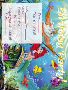 Mermaid ariel invitn