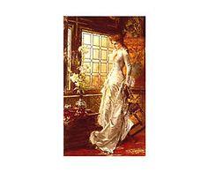 Impresión sobre lienzo Woman in White de Conrad Kiesel - 40x70 cm