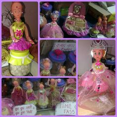 """Baby shower gifting food items decoration with"""" Barbie"""" theme"""
