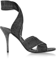 Tap into Alexander Wang's sports-luxe aesthetic with these 'Dana' sandals. They have been crafted in Italy from black , white and charcoal elasticated grosgrain – perfect for slipping on easily. They pair perfectly with tailored culottes.
