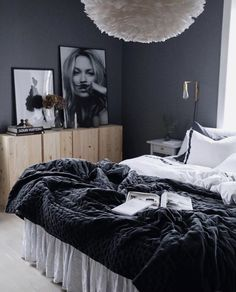 Gray Bedroom, Home Bedroom, Bedroom Decor, Condo Living Room, Home And Living, Coq Hotel, Cosy Room, Home And Deco, Home Office Design