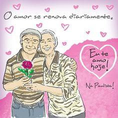 O amor se renova diariamente! #euteamohoje #casais #amor #relacionamentos