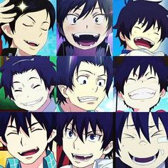 Rin Okumura happy smile -- Blue Exorcist《《《《 He's so goddamn CUTE!!!!