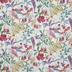 #prestigioustextiles #harlow #summer #floral #flowerprint #homedecor #colourful #maximalist #interiordesign #honeysuckle Textile Design, Fabric Design, Curtain Fabric, Curtains, Prestigious Textiles, Summer Garden, Spring Summer, Modern Prints, Flower Prints