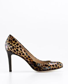 Perfect Animal Print Patent Leather Pumps