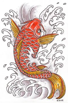 Koi 10 by vikingtattoo on DeviantArt Pez Koi Tattoo, Koi Dragon Tattoo, Small Dragon Tattoos, Small Tattoo, Japanese Koi Fish Tattoo, Koi Fish Drawing, Fish Drawings, Koi Art, Fish Art