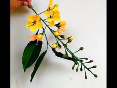 Paper Flowers Cassia Fistula \ Golden Shower ( flower # 152) - YouTube