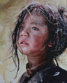Watercolor by Chinese artist Liu Yunsheng