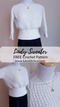 Pull Crochet, Gilet Crochet, Mode Crochet, Crochet Cardigan, Crochet Baby, Knit Crochet, Crochet Jumper Free Pattern, Crochet Sweaters, Crochet Tops