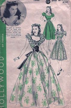 Hollywood Pattern #1988, all made up on the Edelweiss Patterns blog! {http://www.edelweisspatterns.com/blog/?p=4665}