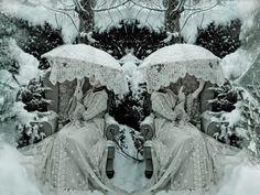 icetwins kirsti mitchel, ice queen, wonderland, snow, boxes, umbrella, kirsty mitchell, photography, photographi