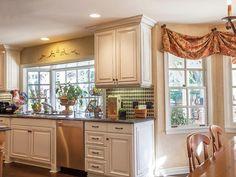 Antique White Kitchen Cabinets - on HGTV