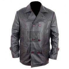 German WWII Black Leather Jacket