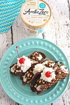 Cookie Dough Chip Chocolaty Tacos   ARCTIC ZERO   The Pioneer of Fit Frozen Desserts