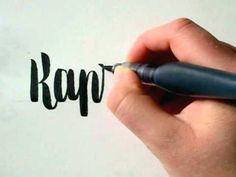 Retro Brush Calligraphy - Kaprifolie - by Hejheidi - YouTube