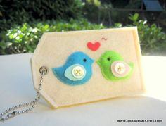 Cute! A felt luggage tag, gift card holder or reusable gift tags.
