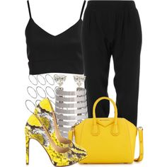 A fashion look from January 2015 featuring ATM by Anthony Thomas Melillo pants, Jessica Simpson pumps and Givenchy handbags. Browse and shop related looks.