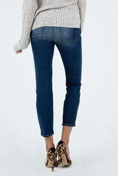 Crop High Waisted Vintage Straight Leg