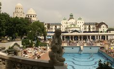I want to go swimming here---Gellert Thermal Baths in Budapest, Hungary