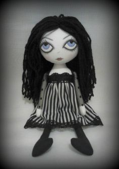 OOAK Gothic Art Rag Doll  'RESERVED' for Miss by ChamberOfDolls