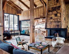 Former Farmhouse Converted into Sophisticated, Yet Bohemian Chalet in the Alps