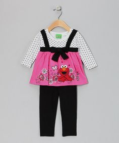 Take a look at this Pink Elmo Babydoll Tunic  amp  Leggings - Infant by  Sesame 3cd5cda47