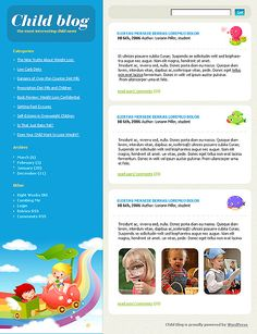 Kids Blog WordPress Themes by Di