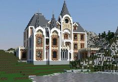 cool PixeledMe | French Mountain Chateau Minecraft World Save