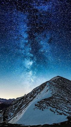 Milky-Way-Galaxy-View-From-Mountain-iPhone-Wallpaper