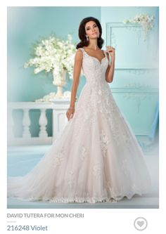 Blush Wedding Gown - David Tutera for Mon Cheri