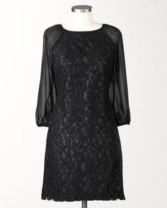 ShopStyle: Coldwater CreekLace scroll dress