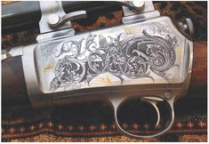Google Image Result for http://www.gundigest.com/wp-content/uploads/2010/08/Engraved_8.jpg Engraving Tools, Metal Engraving, Engraving Ideas, Savage Rifles, Picture Engraving, Rifle Stock, Gun Art, Custom Guns, Hunting Rifles