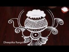 Rangoli is an artistic creation with rice flour that is made outside the front entrance of the house It is usually done by the women flok of the house early . Indian Rangoli Designs, Rangoli Designs Images, Beautiful Rangoli Designs, Simple Flower Design, Simple Flowers, Flower Designs, Sankranthi Muggulu, Free Hand Rangoli Design, Flower Rangoli