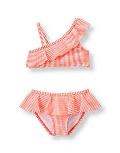 Swimwear Kids Swimwear Bow Stripe Lotus Leaf Baby Sling Swimsuit Baby Girl One Piece Childrens Clothing Hat 2-6yrs