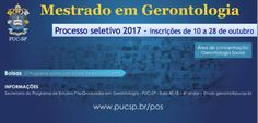 Mestrado em Gerontologia, PUC-SP