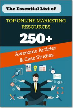 The Essential List of Online Marketing Resources: 250+ Awesome Articles And Case Studies. In this blog post you'll find: Some Exclusive Articles About Blogging, The Best Articles About Content Promotion & Traffic Growth, Top Case Studies & Articles About Email Marketing, Amazing Resources About Blogger Outreach & Influencer Marketing, Top Tips About SEO And Linkbuilding, The Best of The Best Social Media Articles, Top Growth Hacking Tips, E-commerce & Online Sales Resources, Everything…