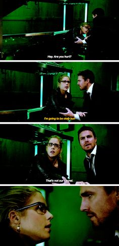 """""""That's not our Laurel"""" - Oliver and Felicity #Arrow"""