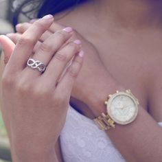 Shop for rings on Etsy, the place to express your creativity through the buying and selling of handmade and vintage goods. Mother Daughter Jewelry, Mother Jewelry, Mother Rings, Mom Daughter, Infinity Jewelry, Engraved Rings, Gifts For Mom, Mothers, Bracelet Watch