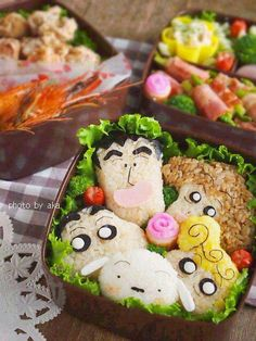 Shin chan family bento   #food #bento #lunchbox