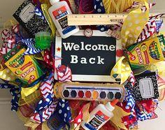 Teacher wreath ,back to school wreath ,teacher appreciation ,personalized school wreath ,school wreath ,deco mesh wreath